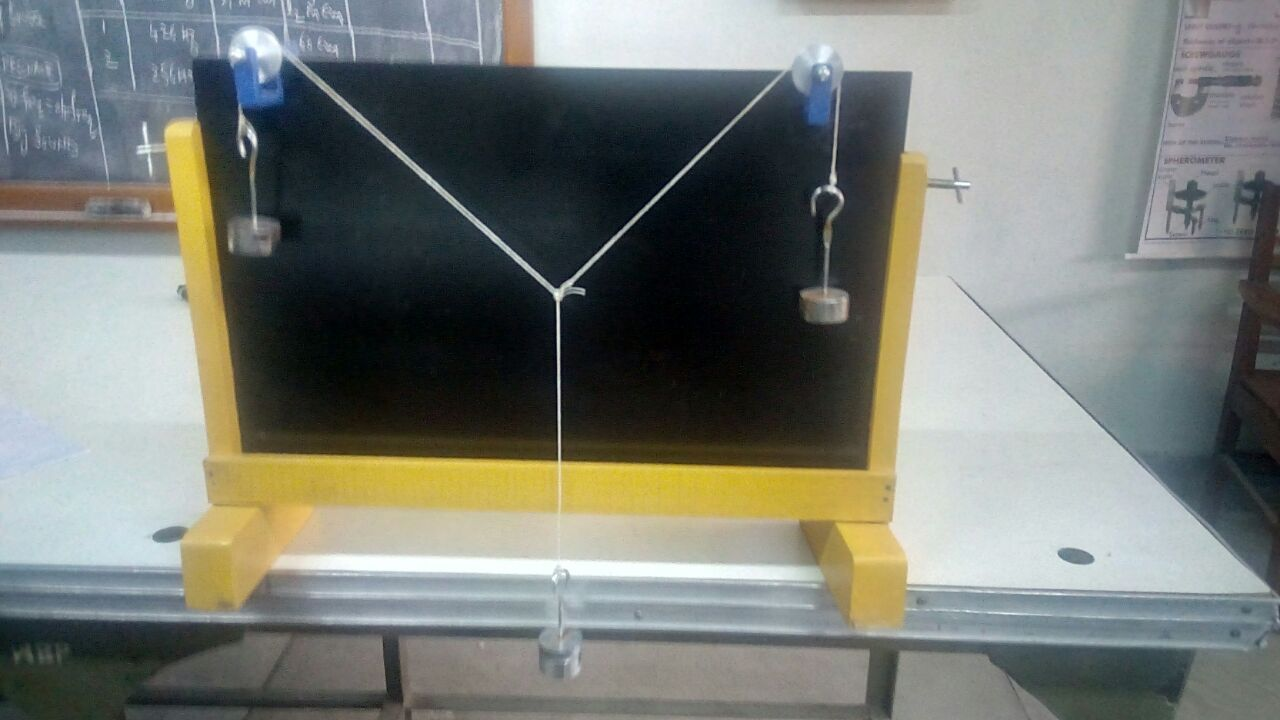 Parallelogram forces(15 nos) Procured in Physics Lab Under MHRD